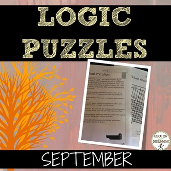 Logic Puzzles  for September (Great for Fall or Autumn)
