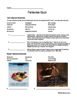 Logical Fallacies Quiz