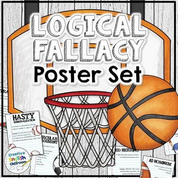 Logical Fallacies Posters (Set of 12) - Sports Theme