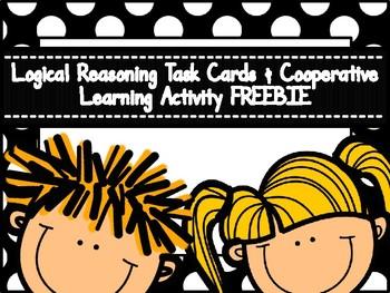 Logical Reasoning Task Cards & Cooperative Learning FREEBIE