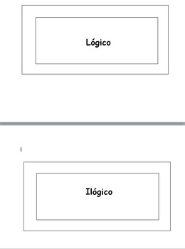 Lógico/Ilógico Student Cards for Spanish Listening Activities