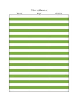 Login and Password Page - Green