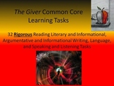 "Lois Lowry's ""The Giver"" Common Core Learning Tasks - 32 R"