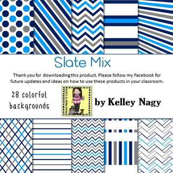 Slate Mix Digital Papers