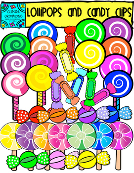 Lollipop and Candy Clipart FREEBIE!!