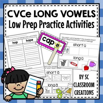 Long Vowel Word Work Set