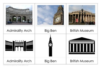 London Landmarks - Montessori Nomenclature Cards and Match