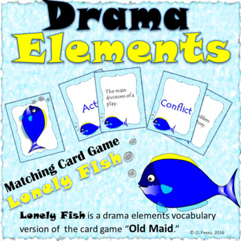 Lonely Fish-Drama Elements Vocabulary (a Version of Old Ma