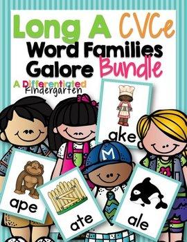 Long 'A' CVCe Word Family Word Work Galore Bundle-Differen