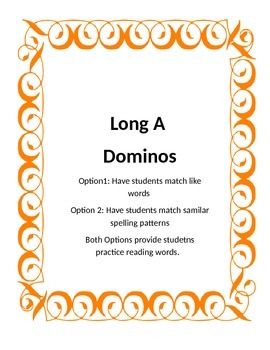Long A Dominoes
