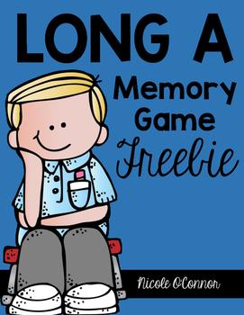 Long A Memory Game Freebie
