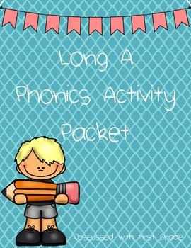 Long A Phonics Activity Pack