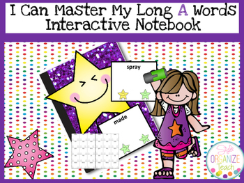 Long A Practice Fluency Data Tracker Interactive Notebook