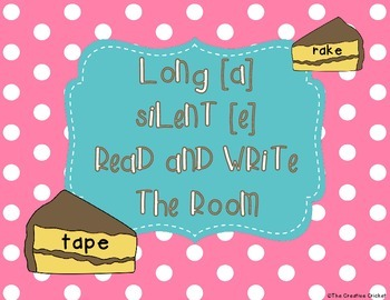 Long A (Silent E) Read and Write the Room / Word Sort