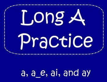 Long A SmartBoard Activity