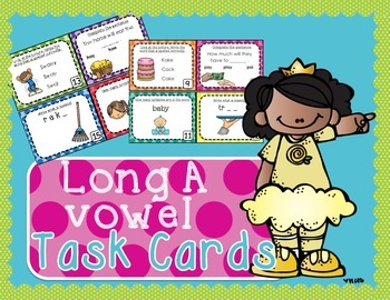 Long A Task Cards - Scoot Game