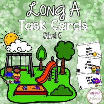 Long A Task Cards with Silent E