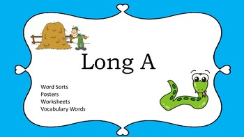 Long A Phonics Center and Sorting activties