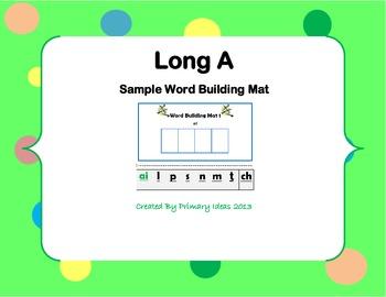 Long A Word Building Mat Freebie