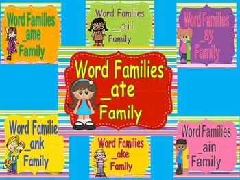 Rhyming Words/ Word Families Long A Power Points & Printab