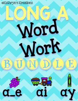 Long A Word Work Bundle