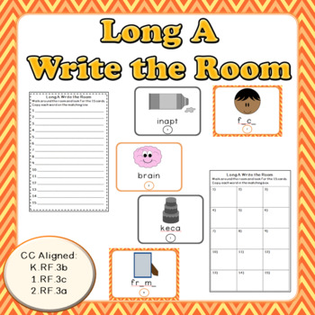 Long A Words: Write the Room