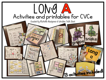 Long A {activities and printables for CVCe}