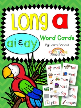 Long A ai & ay Word Cards