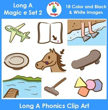 Long A (magic e) Phonics Clip Art Set 2