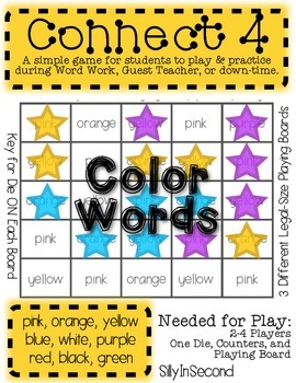 Color Words Connect 4