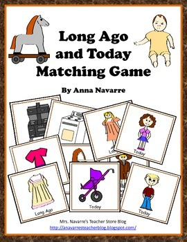 Long Ago and Today Matching Game