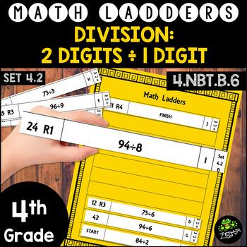 Long Division -  2 Digit Dividends, 1 Digit Divisors - Set