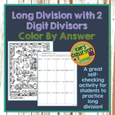 Long Division -2 Digit Divisors- Color by Number - Colorin
