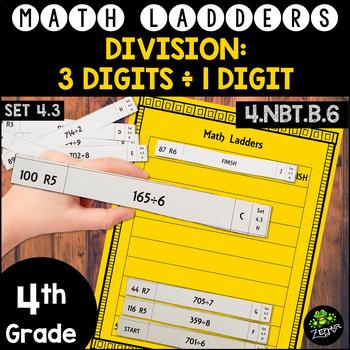 Long Division -  3 Digit Dividends, 1 Digit Divisors - Set