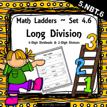 Long Division -  4 Digit Dividends, 2 Digit Divisors - Set
