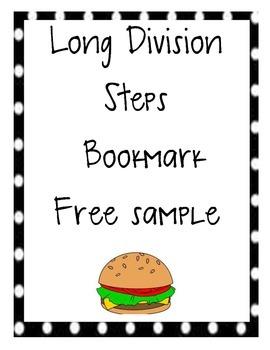Long Division Bookmark