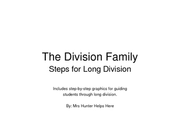 Long Division Family Steps