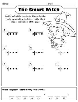 Long Division (Halloween Themed)