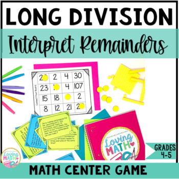 Long Division Game - Interpreting Remainders