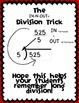 Long Division Math Trick Freebie