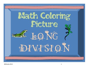 Long Division Picture - Lizard