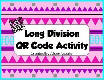 Long Division QR Code Self Checking Activity