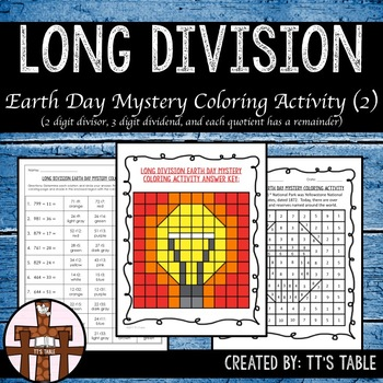Long Division Earth Day Mystery Coloring Activity (2)