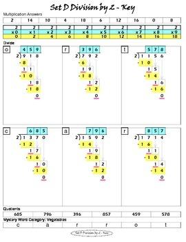 Long Division Worksheets (Division Tutor Set D Color)