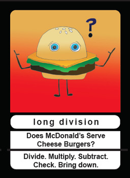Long Division mnemonics card
