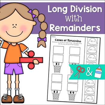 Long Division with Remainders: Cut and Paste