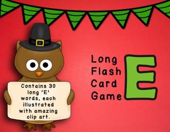 Long E Flashcard Game - CVCe Words