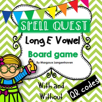 Long E Vowel Board Game (with or without QR codes)
