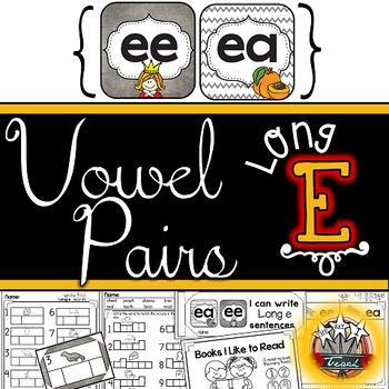 Long Vowel Pairs: /ee/ /ea/ /ie/ Activities