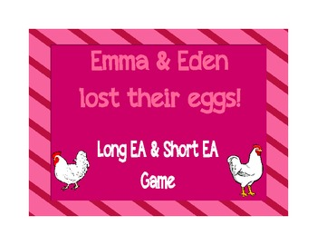 Long EA & Short EA File Folder Game